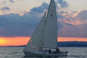 itinerari e percorsi in Umbria in barca a vela sul Trasimeno